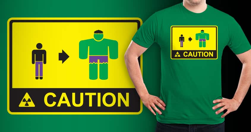 CAUTION: PURPLE PANTS by Wood-Man on Threadless