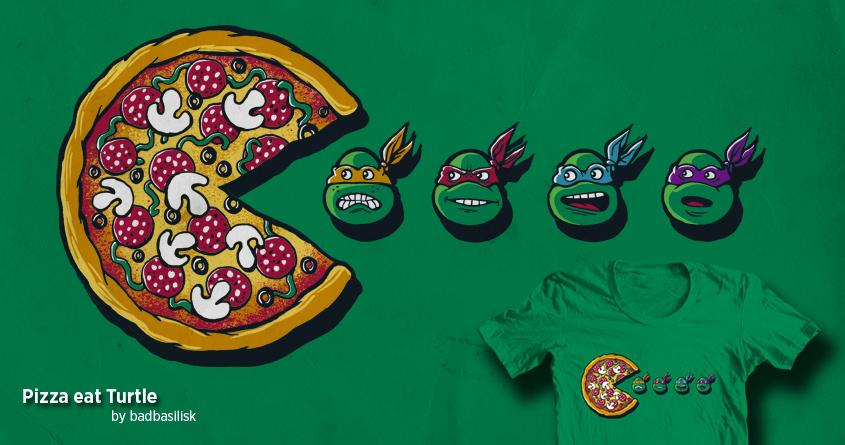 Pizza Eat Turtle by badbasilisk on Threadless