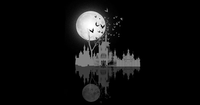 Castle under moon by bandy on Threadless
