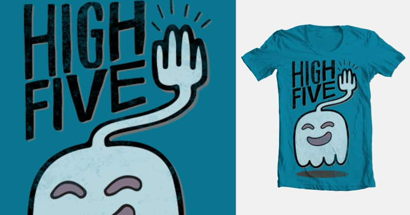 Hi five ghost says high five by Daniela Dix on Threadless