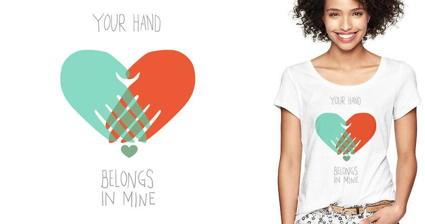 I wanna hold your hand by radiomode on Threadless