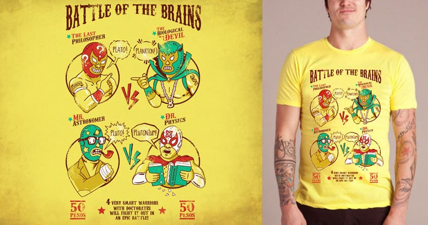 Battle of the Brains by Graja on Threadless