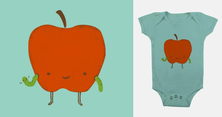 Waving Apple by murraymullet on Threadless