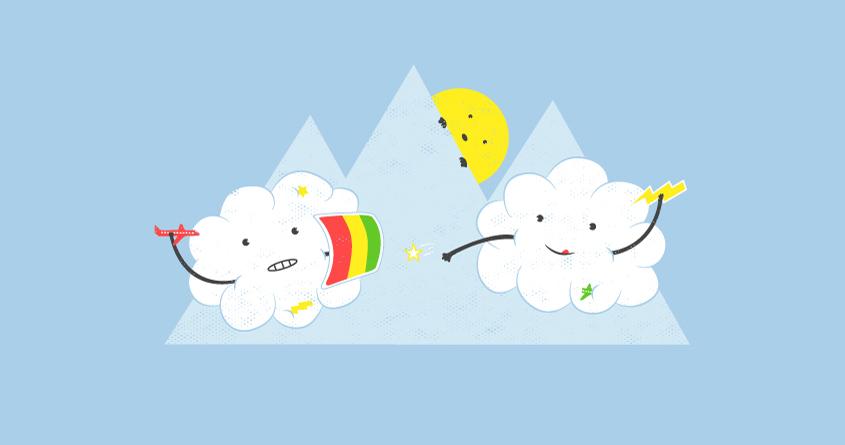 Cloud Fight by addu on Threadless