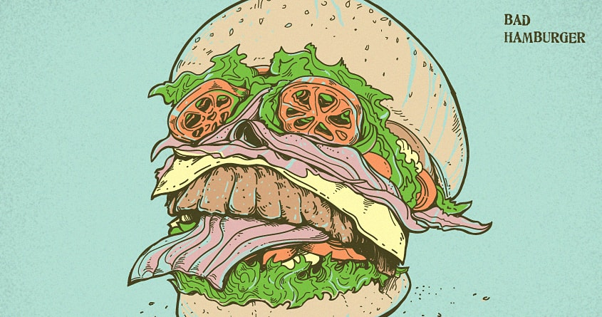 Bad Hamburger by rhobdesigns on Threadless