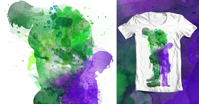 Dr. Banner/ Mr. Hulk by Kellabell9 on Threadless