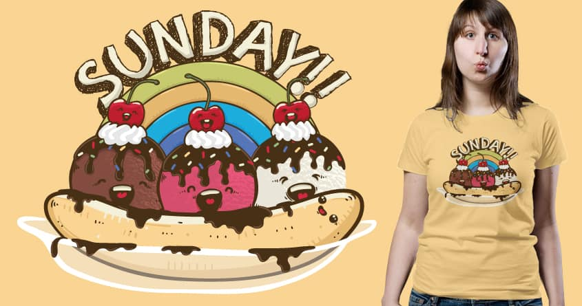 I Scream Sunday by Robo Rat and ourgraphicfaith on Threadless
