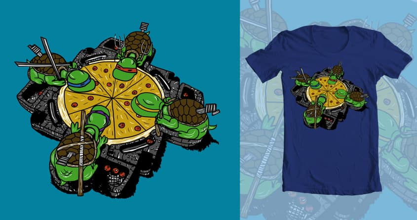 Hungry, Hungry Turtles by kristina.moy on Threadless