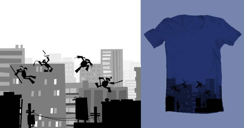 Shadows on the rooftops by MerryMimic on Threadless