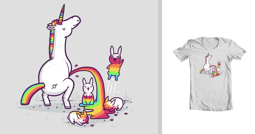 Unicorn pee by randyotter3000 and ourgraphicfaith on Threadless