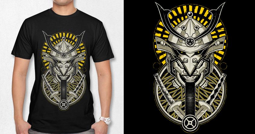 Samurai Bot by azrhon on Threadless