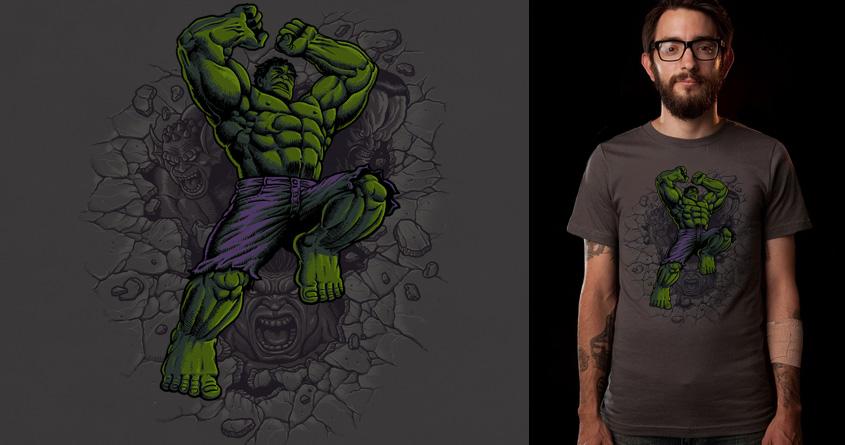 Hulk Fighting by ben chen on Threadless