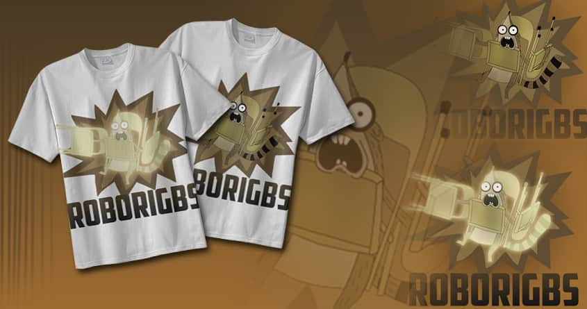 Regular Show Roborigbs Shirt (redesigned) by Arjey on Threadless