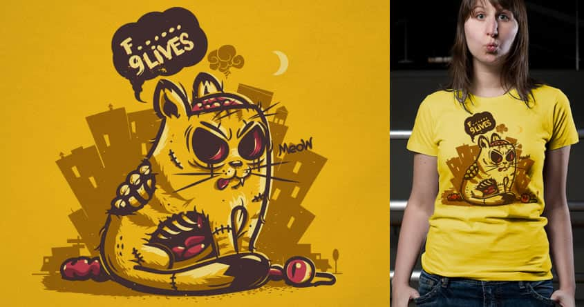 9 Lives by Gums. on Threadless