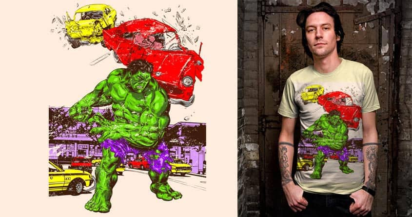 Hulk in the city by kooky love on Threadless