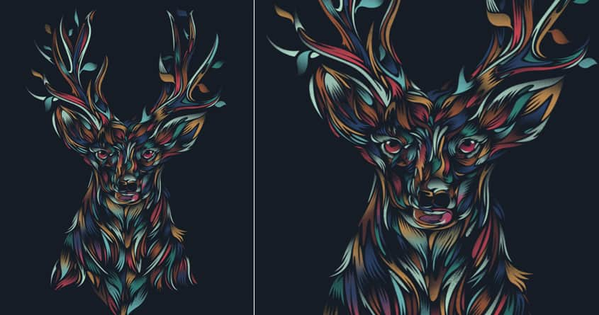 WILD DEER by dandingeroz on Threadless