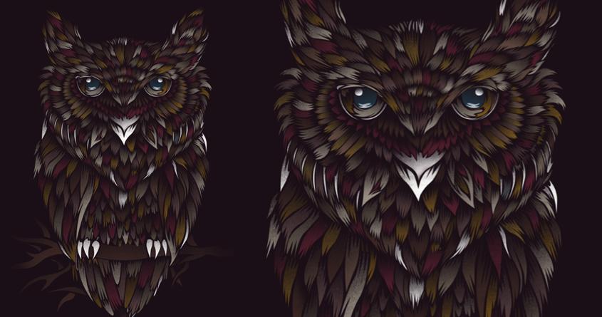 WILD OWL by dandingeroz on Threadless