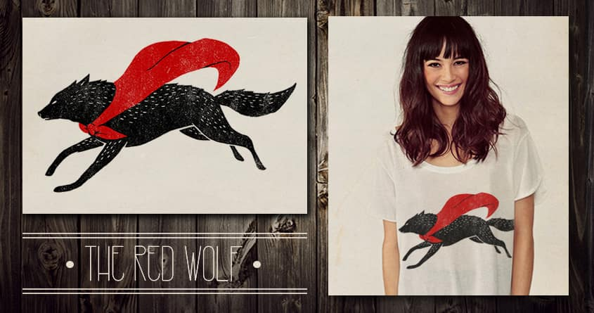 The Red Wolf by INDZ on Threadless