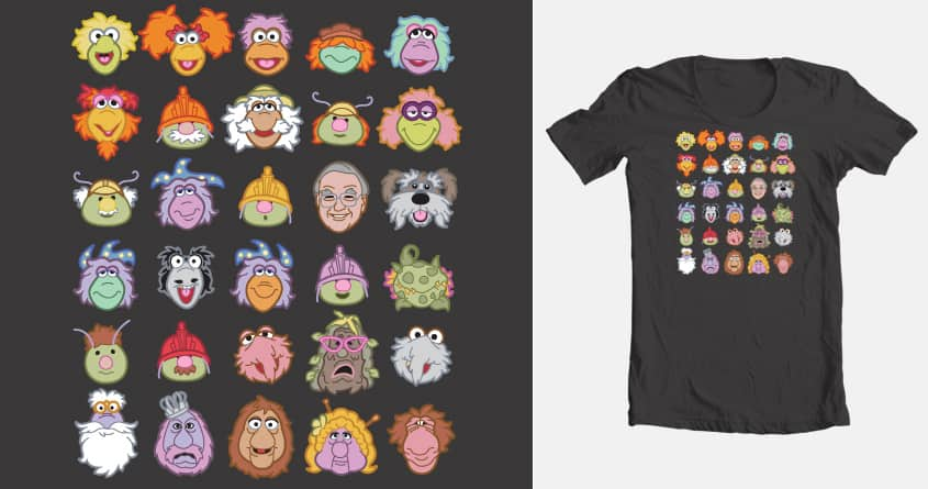 30 Fraggle Faces by Kyle Frisch on Threadless