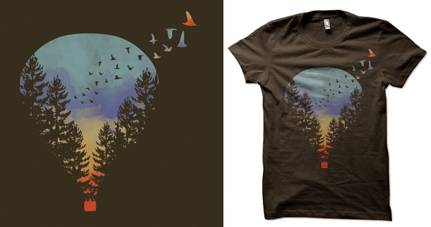 Flying far far away by heyale on Threadless