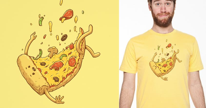 Pizza Fall by temyongsky on Threadless