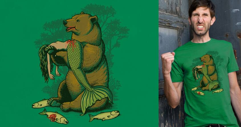 Bear Eats Fishes by ben chen on Threadless