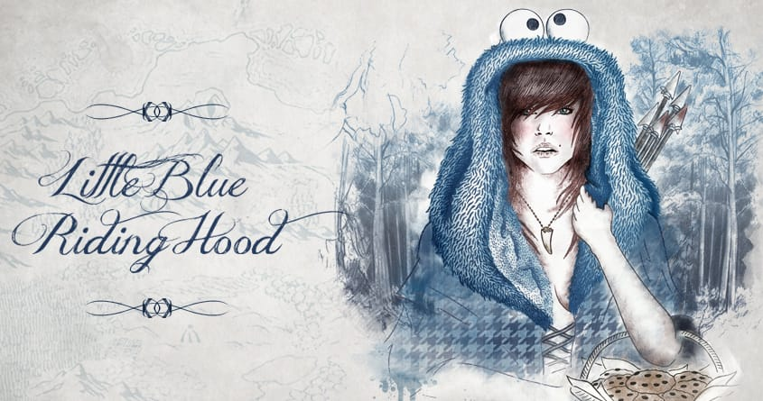 Little Blue Riding Hood by Gamma-Ray on Threadless