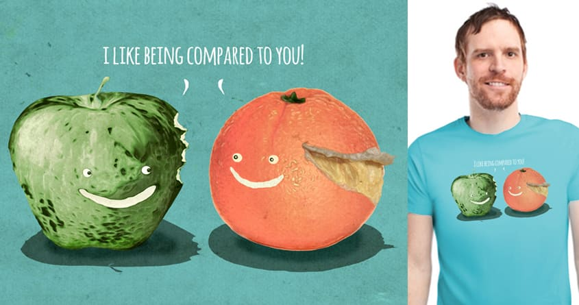 Apples to Oranges by ArTrOcItY on Threadless
