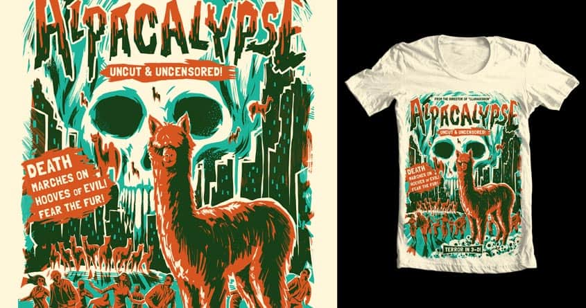 Alpacalypse! by David Maclennan on Threadless