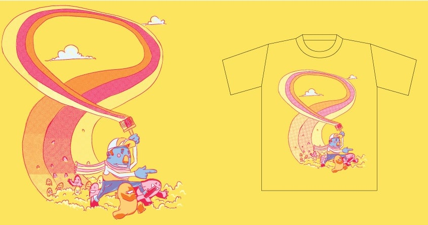 Paint the rainbow by wullagaru on Threadless