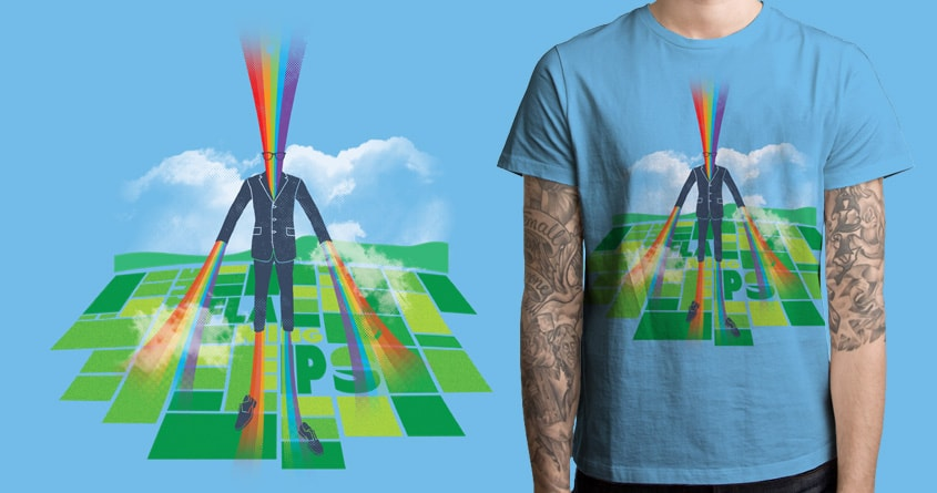 Zapped by the Lucky Super Rainbow by quick-brown-fox on Threadless