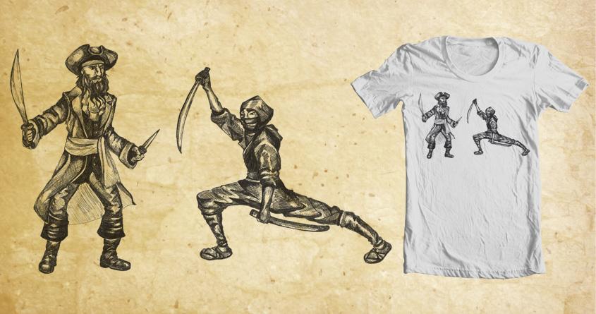 Pirate VS. Ninja by rb_blueroses on Threadless