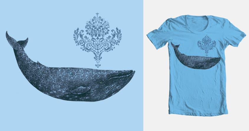 The Damask Whale  by igo2cairo on Threadless