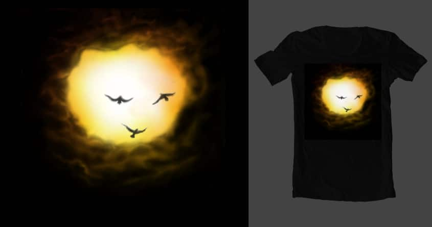 Sunshine Happiness  by El-Be on Threadless