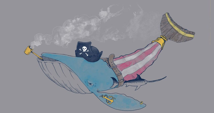 Pirate Whale by erdavid on Threadless