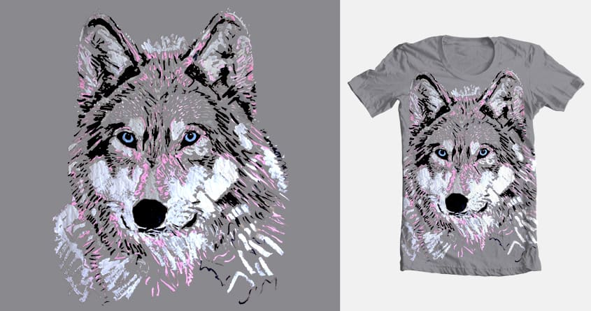 Cosmic Wolf by Peter Pink on Threadless