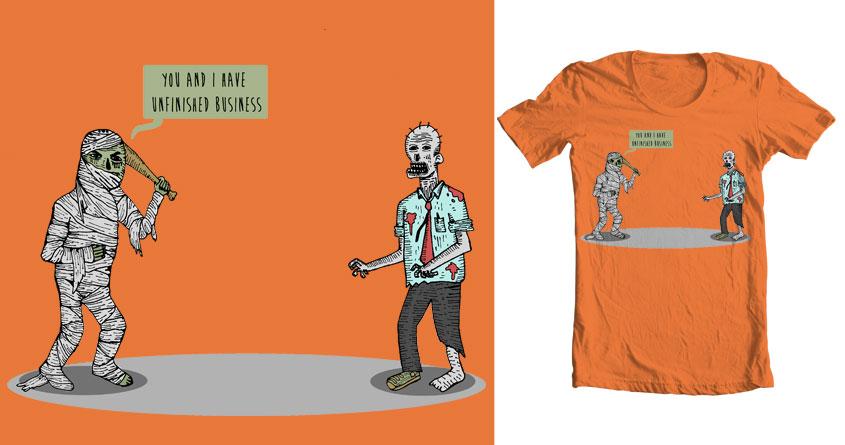 Mummy vs Zombie by bernabrb on Threadless