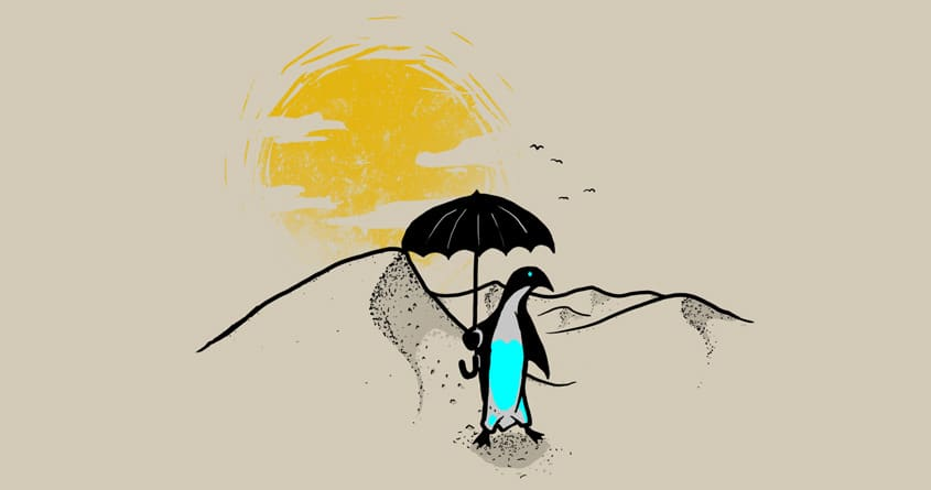 A Penguin in the Desert by biotwist on Threadless