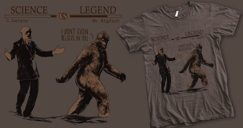 Science Meets Legend by iamrobman on Threadless