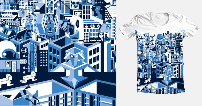Weird City Terror by patientR on Threadless