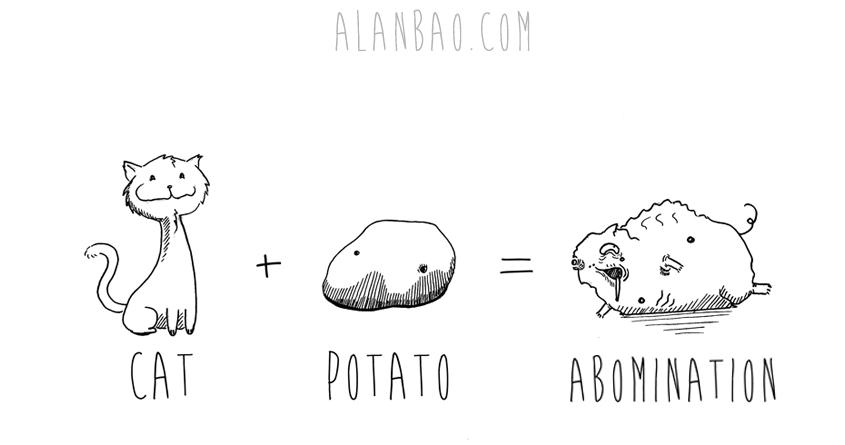 Potatocat by AlanBao on Threadless