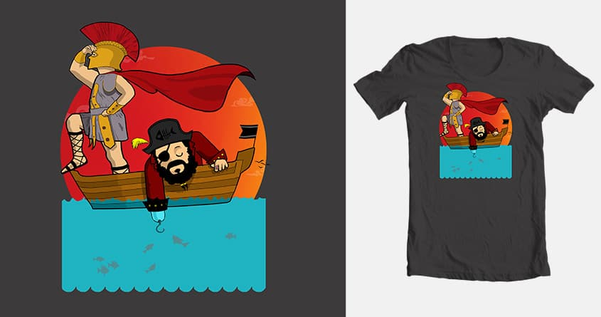 Fishing Trip:-Roman & Pirate by azrael5 on Threadless
