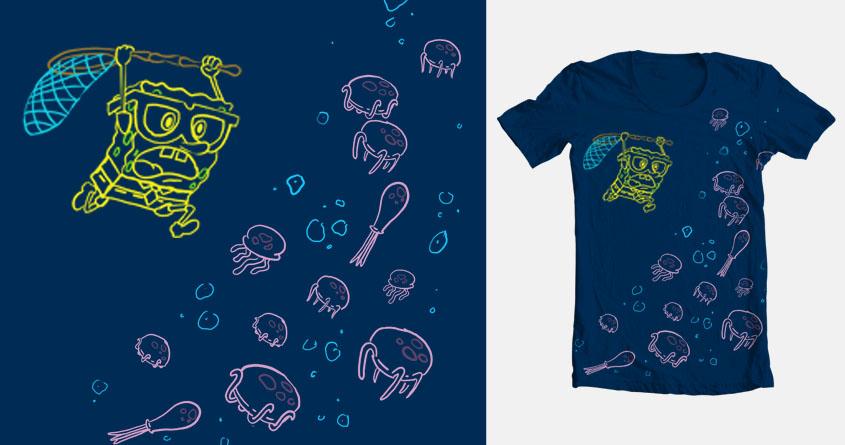 Jellyfishing by ericaanim on Threadless