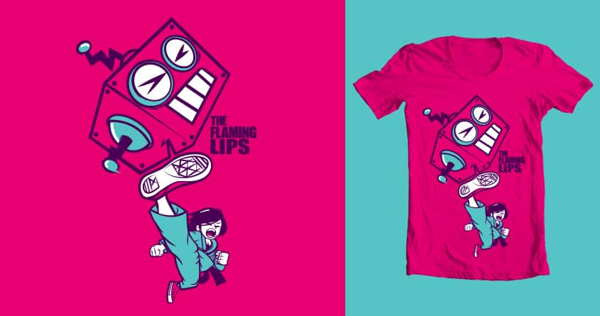 Battle the pink robots by leducan1 on Threadless