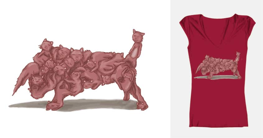 Cats in bull formation by XaviaJones on Threadless