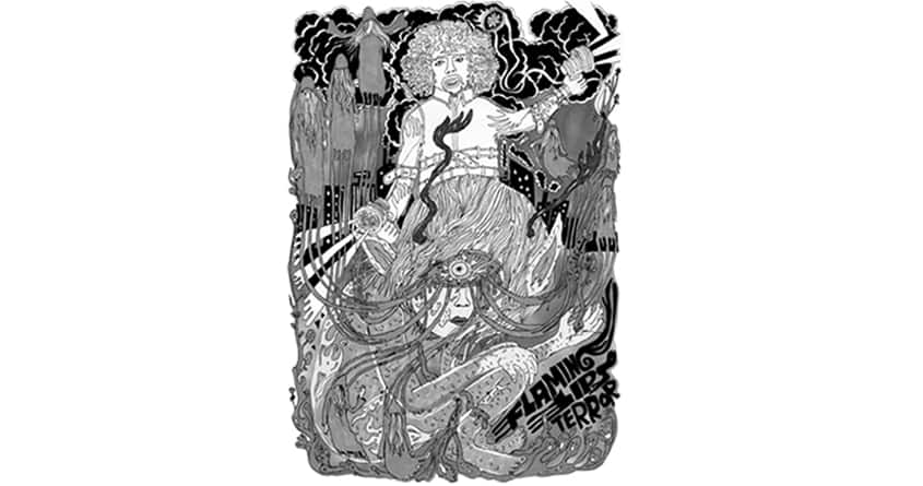 flaming lips-doodle terror by papernoteman on Threadless