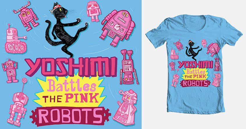 Yoshimi Battles the Pink Robots by DanTheScribbler on Threadless