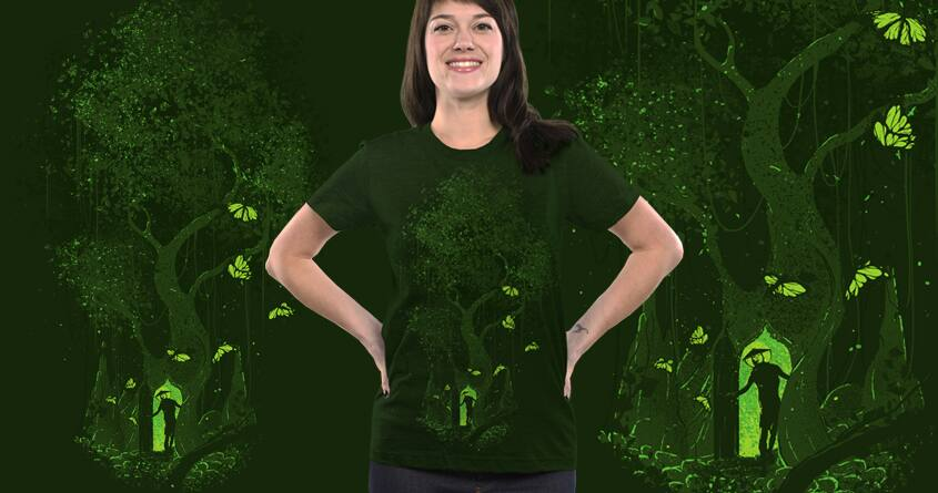 Green Temple by robsonborges on Threadless