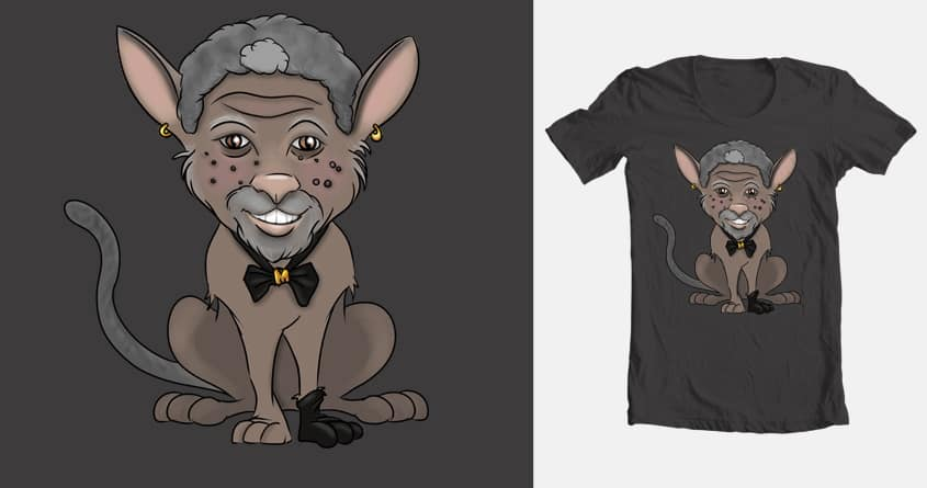 Morgan Free Cat  by micahbrown1 on Threadless