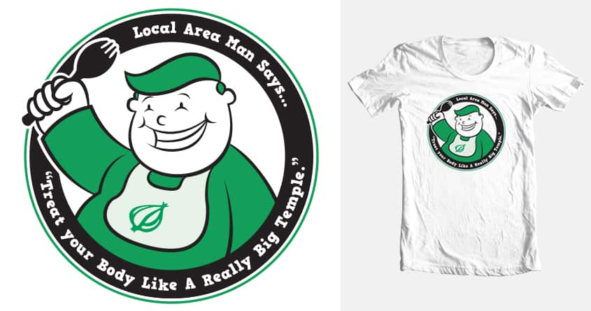 Local Man's Body A Really Big Temple. by Firehat45 on Threadless